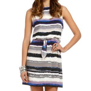 Daisy Fuentes Striped Knot Front Dress